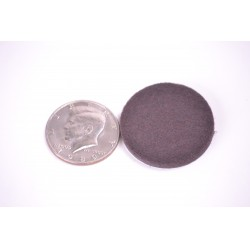 1 1/2 inch Pad Round Brown - 100pc